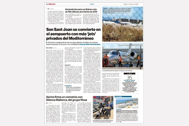 Son Sant Joan se convierte en el aeropuerto con más jets.jpg